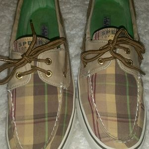SPERRY TOP SLIDERS, ONLY WORN A FEW TIMES, EUC